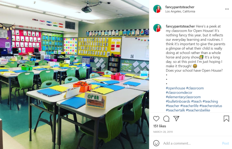 Classroom prepared to welcome students with lots of colorful decorations