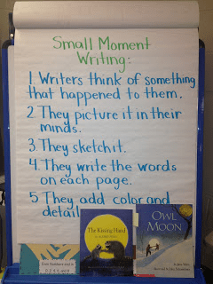 Anchor chart for second grade narratives.