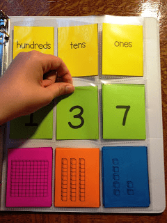 Student hand with notes and numbers.