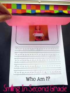 Who am I second grade assignment