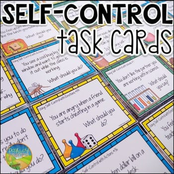 self control task card for students