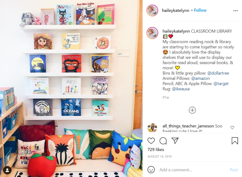 Still of set up your classroom library and feature prominent titles from Instagram