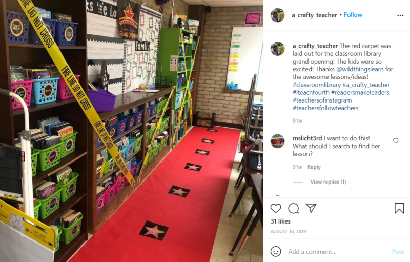 Still of set up your classroom library and have a grand opening party from Instagram
