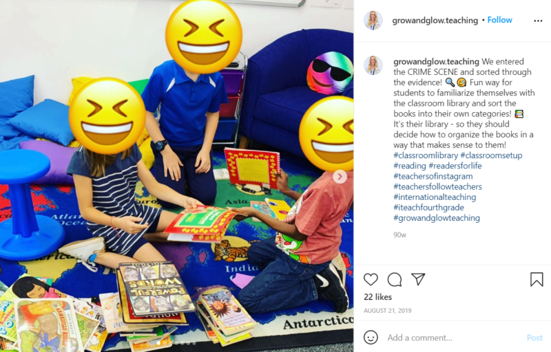 Still of set up your classroom library and involve students in sorting books from Instagram