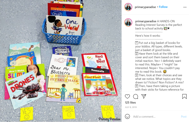Still of set up your classroom library and let them pick their faves from Instagram
