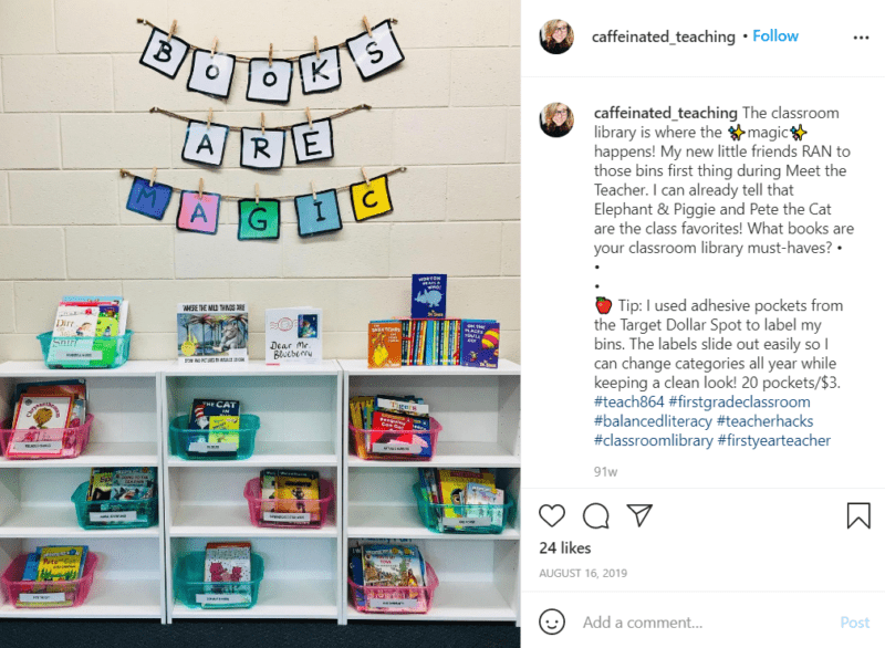 Still of set up your classroom library by rotating your book bins to stay fresh from Instagram