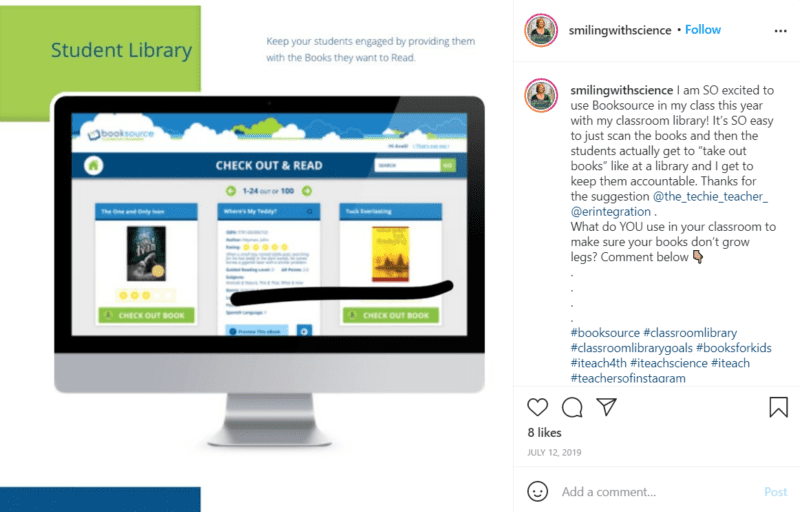 Still of set up your classroom library with a classroom library app from Instagram