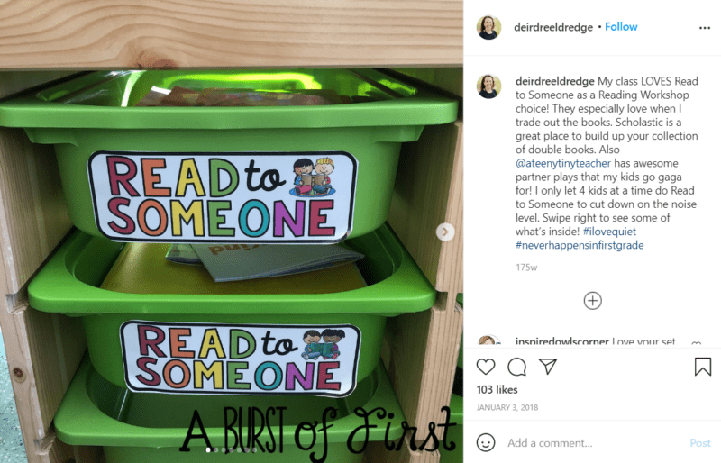 Still of set up your classroom library with areas that support your curriculum from Instagram
