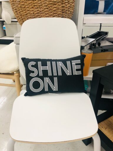 Shine on pillow in black at Target