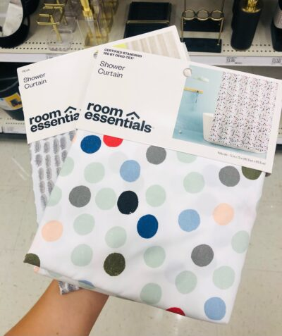Shower curtains from Target