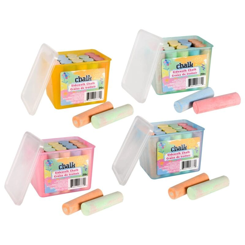 Sidewalk chalk containers - inexpensive gift ideas for students