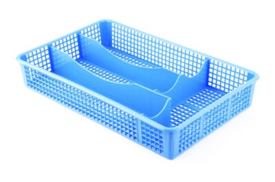 Blue silverware organizer