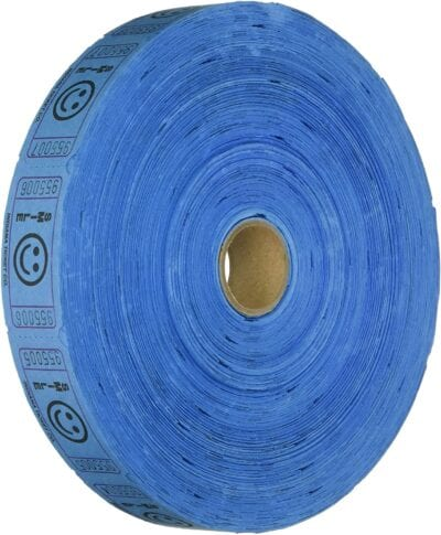 single roll raffle tickets blue