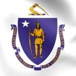 Flag of Massachusetts, USA.