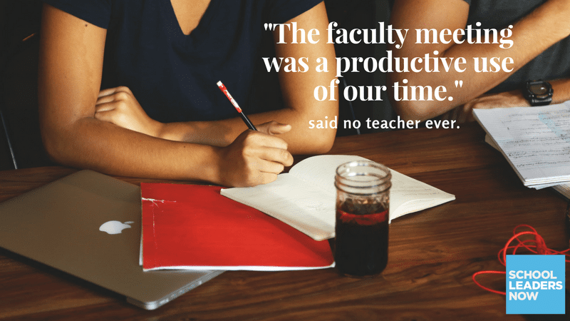 Flipping Your Faculty Meetings Helps You Walk Your Talk