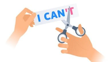 hand using scissors to cut the word can't -- 6 Tips For Handling Major Curriculum Changes