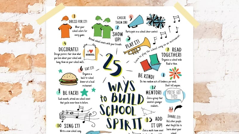 25 Ways to Build School Spirit
