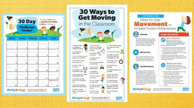 Classroom Movement Kit: Staff Guide, Classroom Poster, Activity Tracker