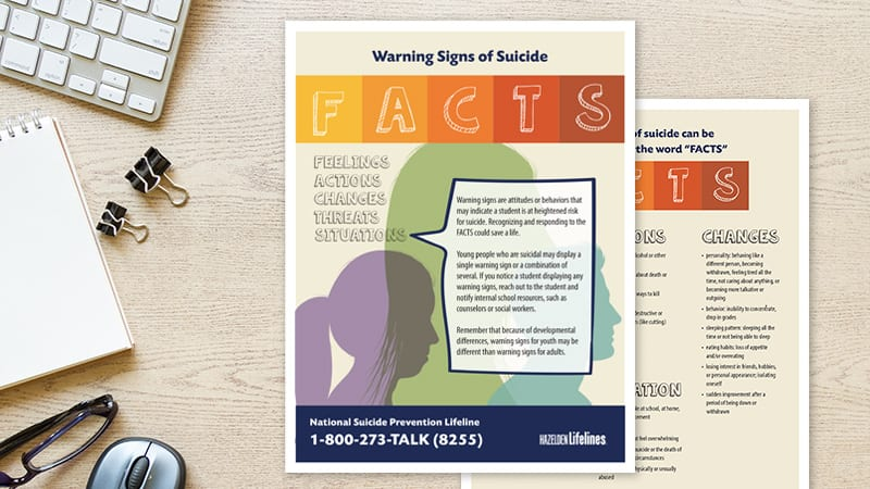 Warning Signs of Suicide: Free Printable Checklist for Schools