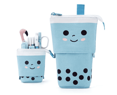cute pencil pouch with Smiley that stands up