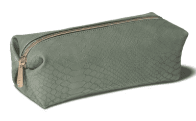 Sonia Kashuk cute pencil pouch with green snakeskin pattern