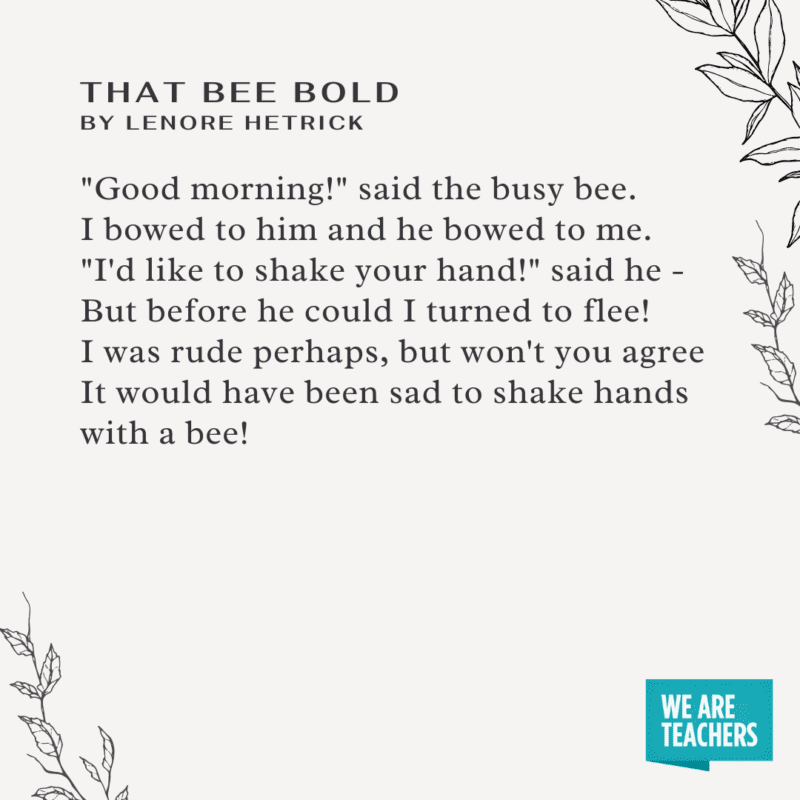 That Bold Bee by Lenore Hetrick