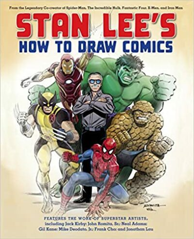 Book cover for Stan Lee's How to Draw Comics as an example of drawing books for kids