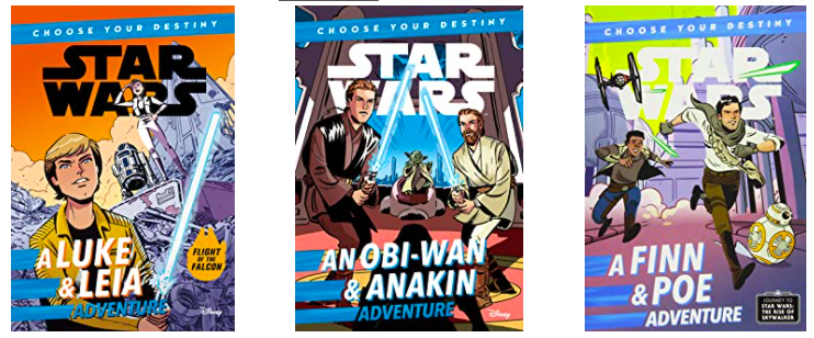 Three Star Wars Choose Your Destiny book covers