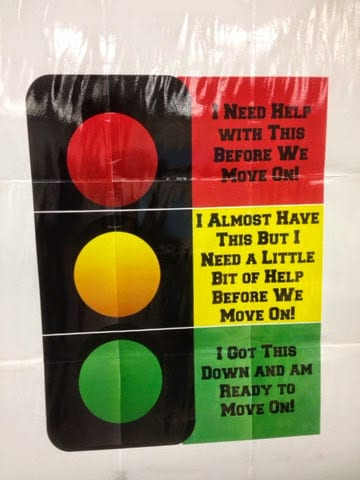 a classroom stop sign chart to help students check for understanding