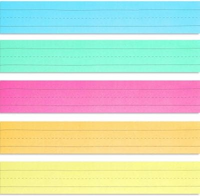 Colorful cut paper with lines.