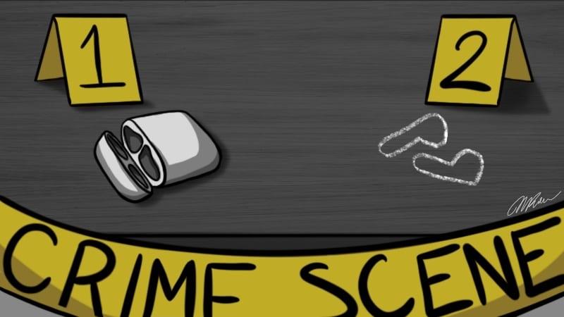 Crime scene of stolen Airpods