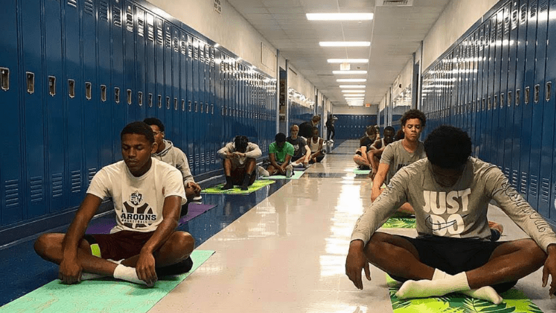 Yoga in the Classroom Students