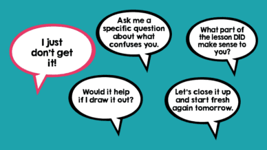 5 responses for when students just don't get it.