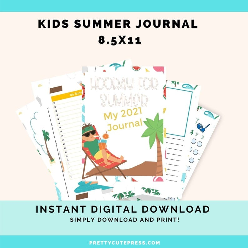Printable kids summer journal - inexpensive gift ideas for students