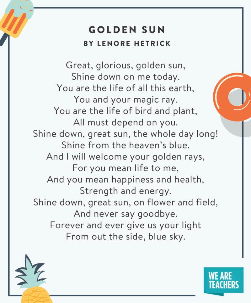 Golden sun poem