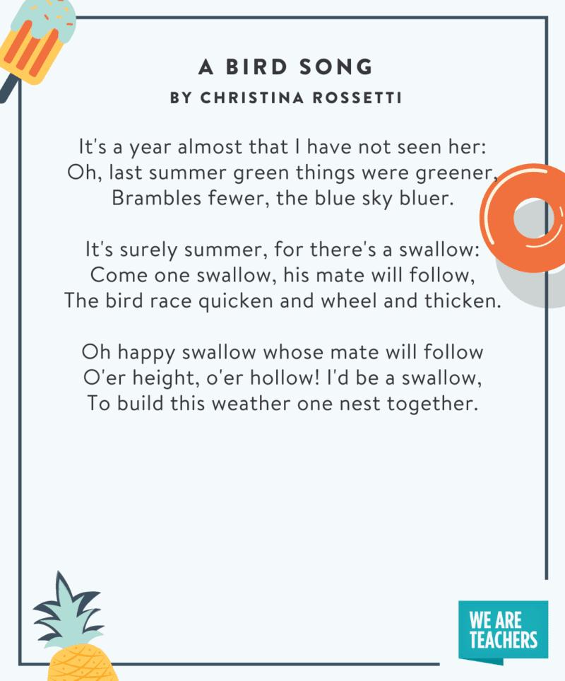 A Bird Song poem