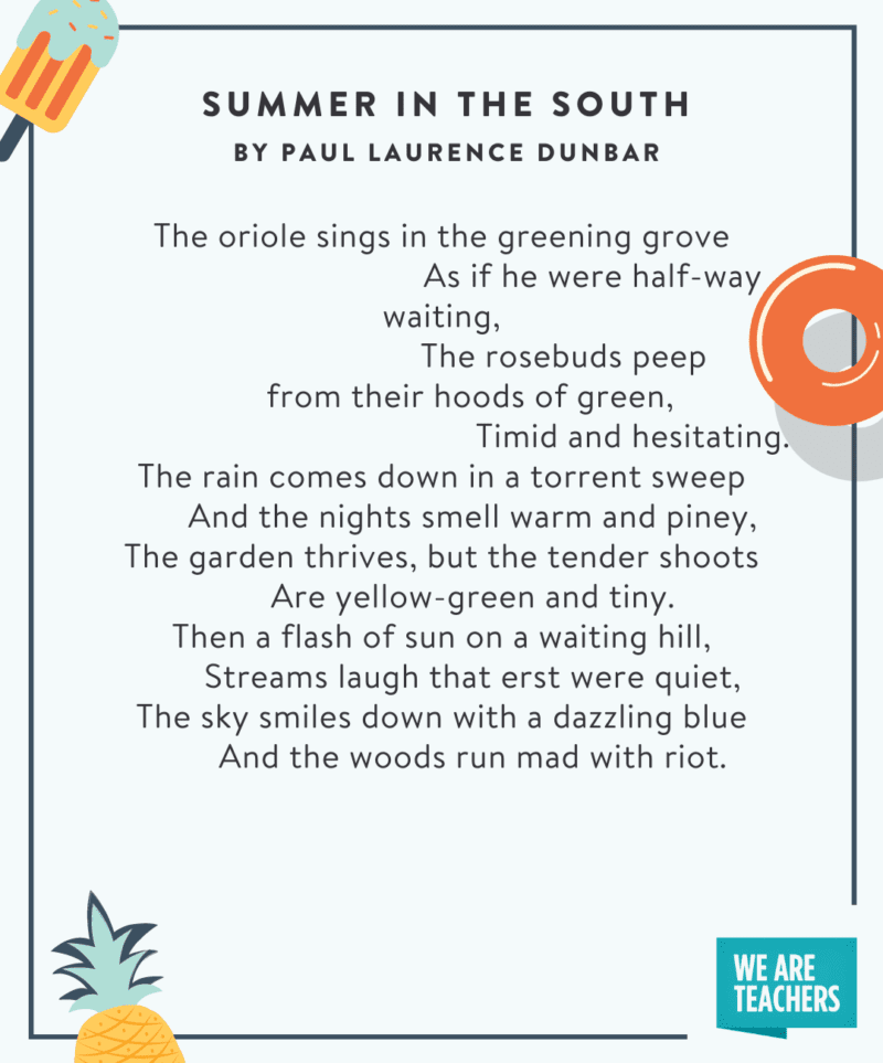 Summer in the South poem