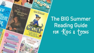 The BIG summer reading guide for kids and teens with a collection of the books.