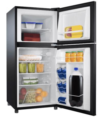 Sunbeam double door black mini fridge