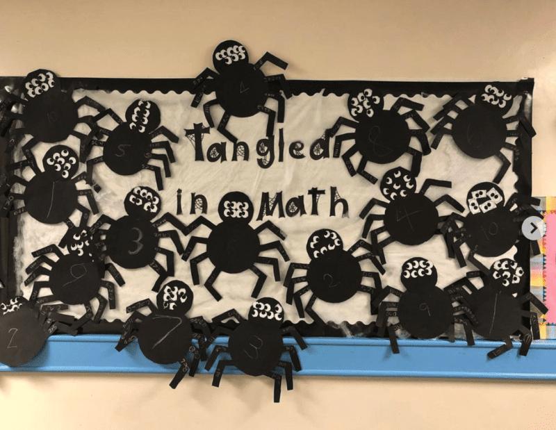 Tangled in Math bulletin board