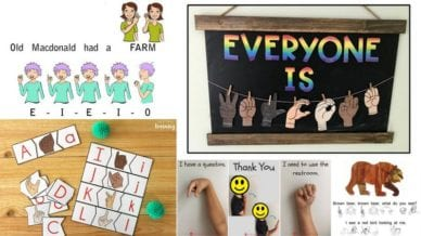 How to Use and Teach Sign Language In Your Classroom Collage