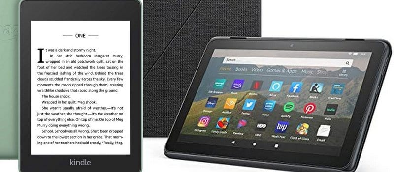 Kindle Paperwhite and Kindle Fire