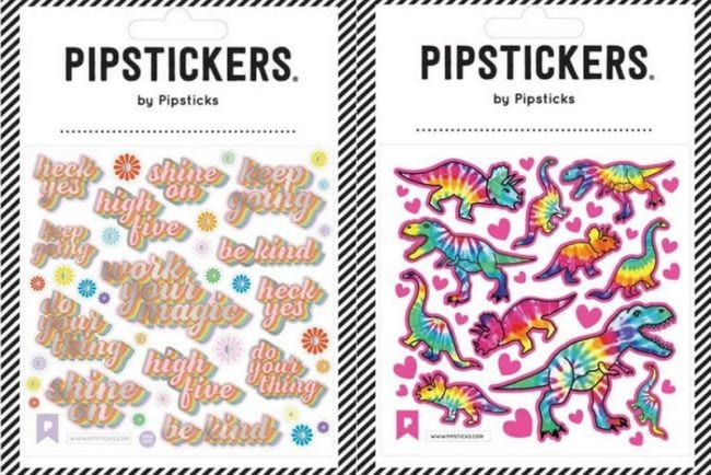 Stickers of colorful dinosaurs and motivational sayings (Teacher Appreciation Gifts)