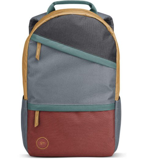 Simple backpack in gray and orange