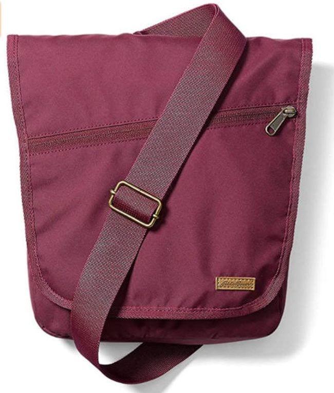 Eddie Bauer pink messenger style bag