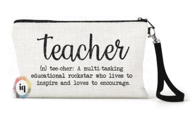 cute teacher pencil pouch with Teacher definition