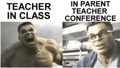 Teach in class verses in parent teacher conference