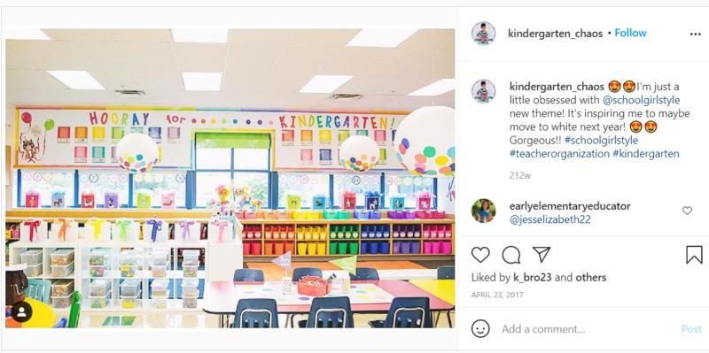 Still of rainbow organized classroom ideas