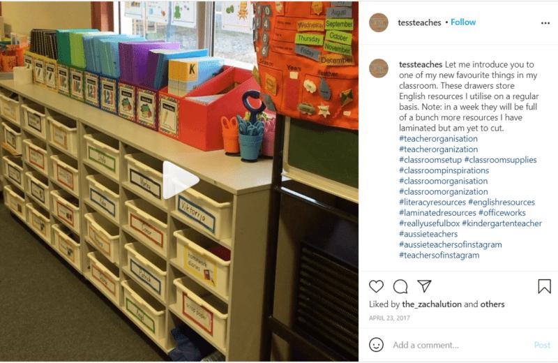 Still of classroom tips for organization