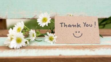 Teachers share how parents show appreciation - Thank You note